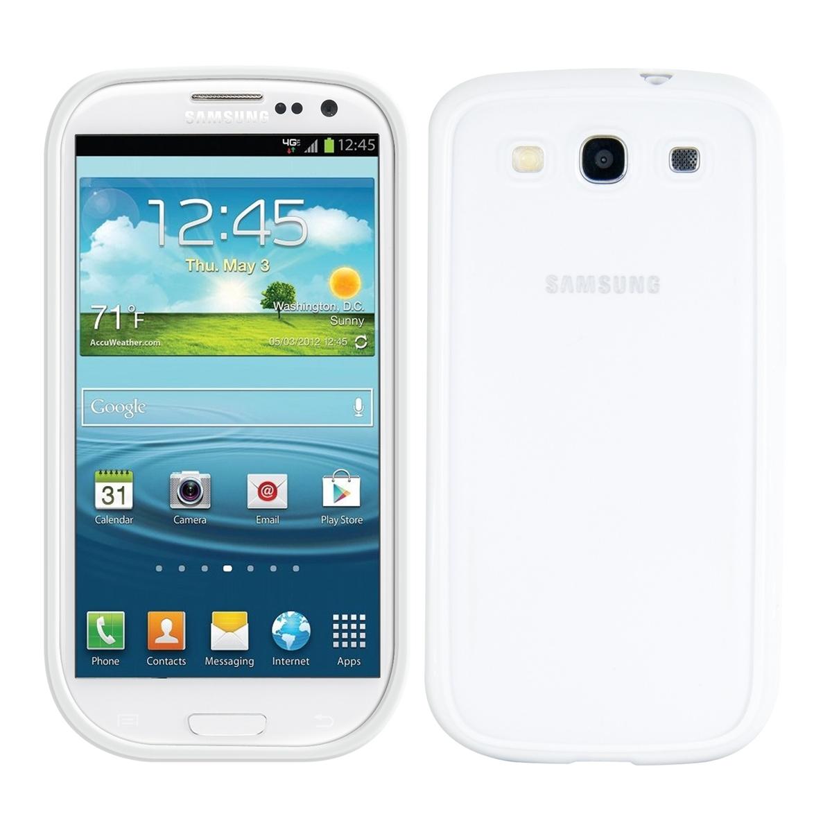 Kvalitní plastové pouzdro pro Samsung S3 | S3 Neo - bílé