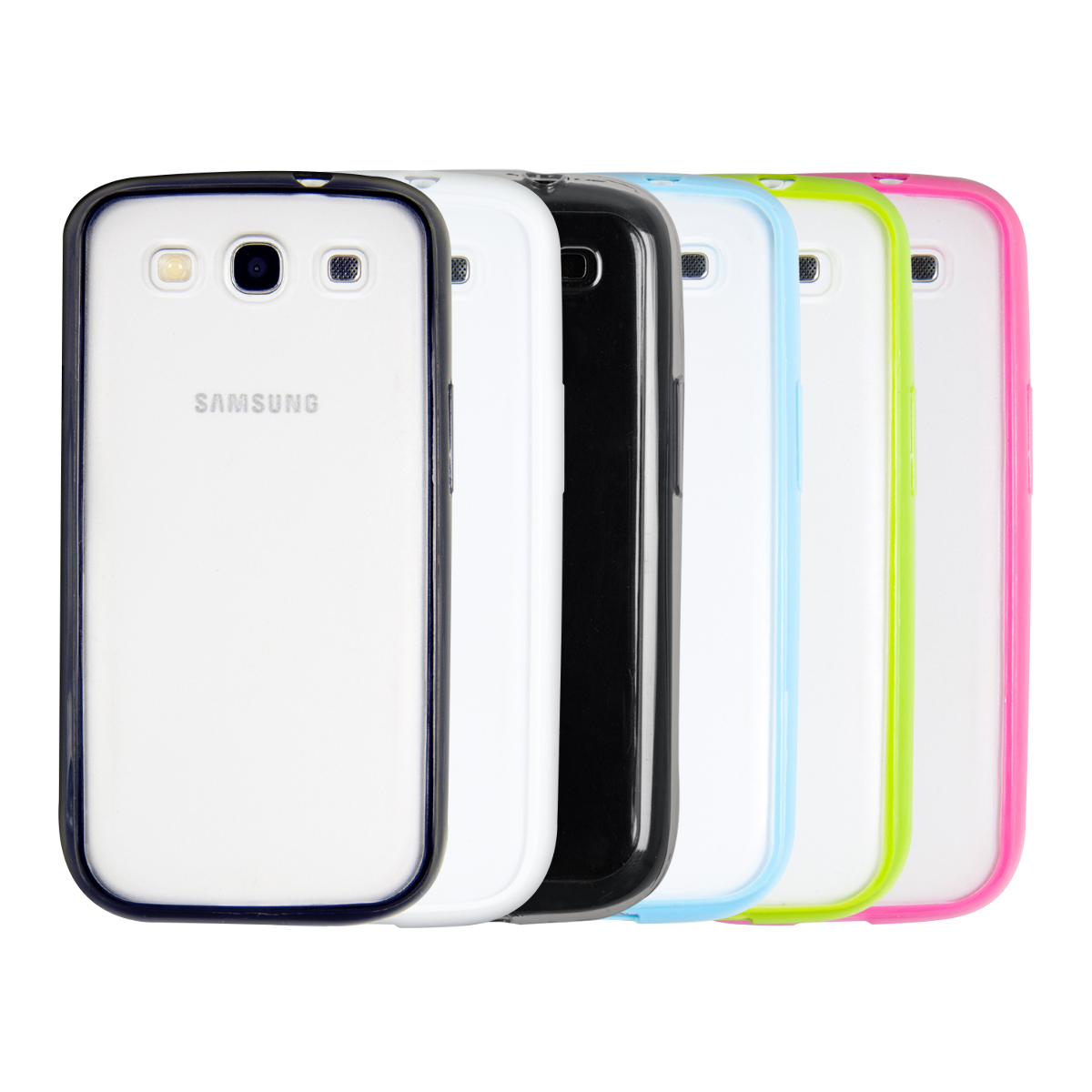 Tpu samsung galaxy s3 s3 neo - Kwmobile Simply Stylish Tpu Silicone Case For The Samsung Galaxy S3 S3 Neo With Transparent Back And Edges In Desired Colour