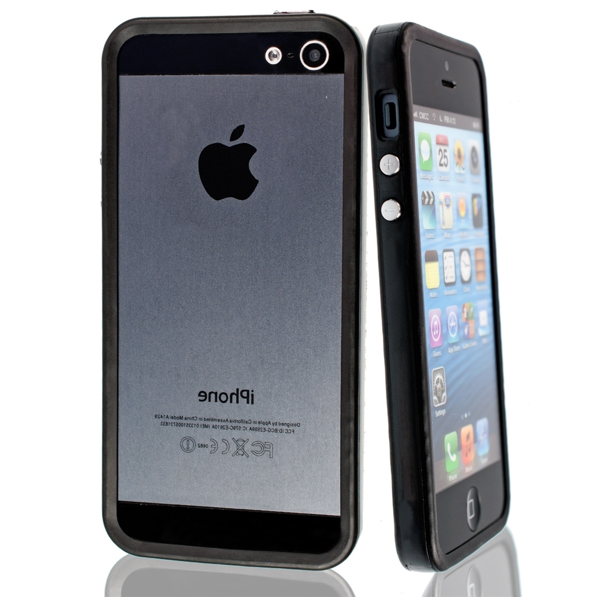 Funda de aluminio para apple iphone se 5 5s negro tpu silicona aluminio ebay - Fundas de silicona para iphone 5 ...