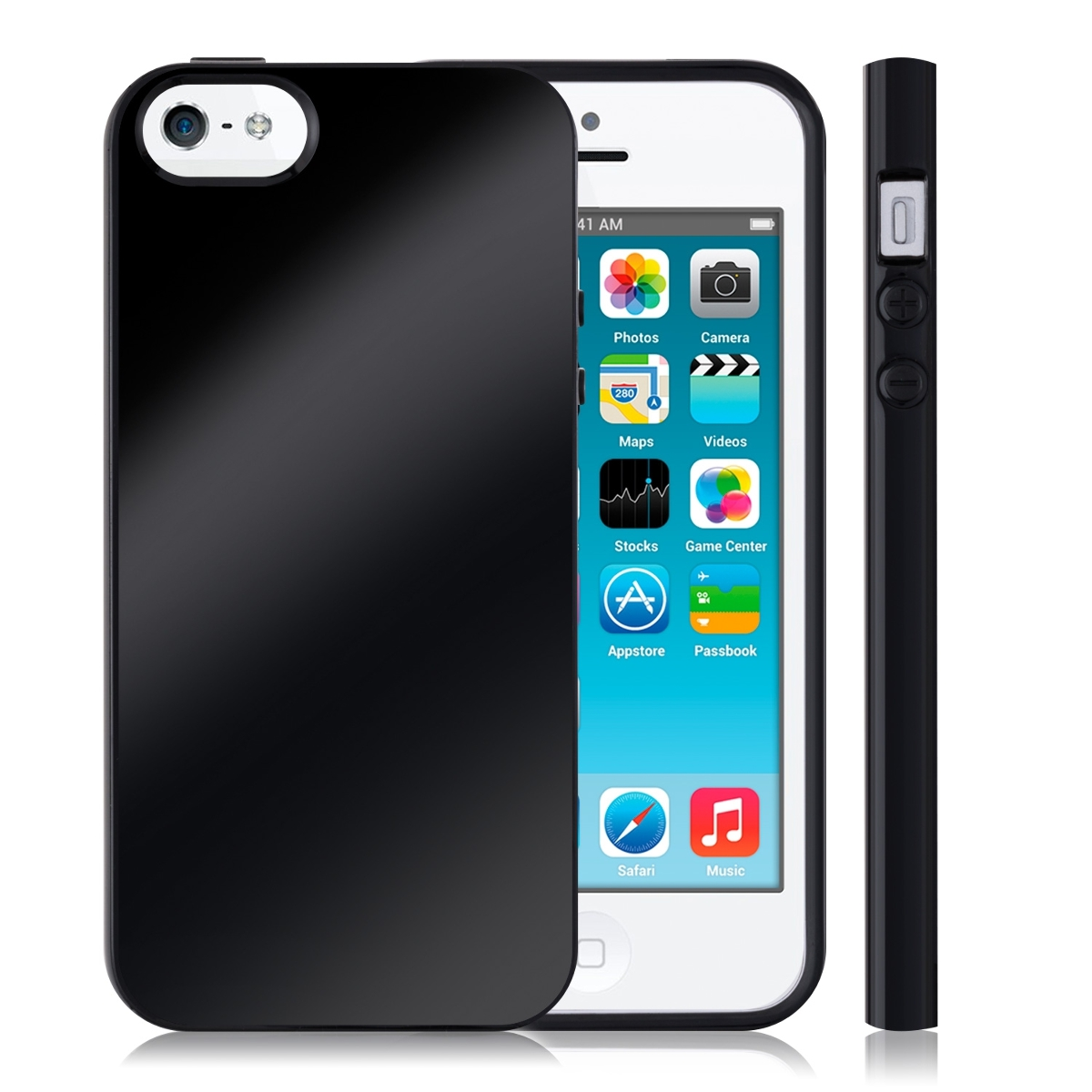 tpu silikon case f r apple iphone se 5 5s schwarz cover. Black Bedroom Furniture Sets. Home Design Ideas