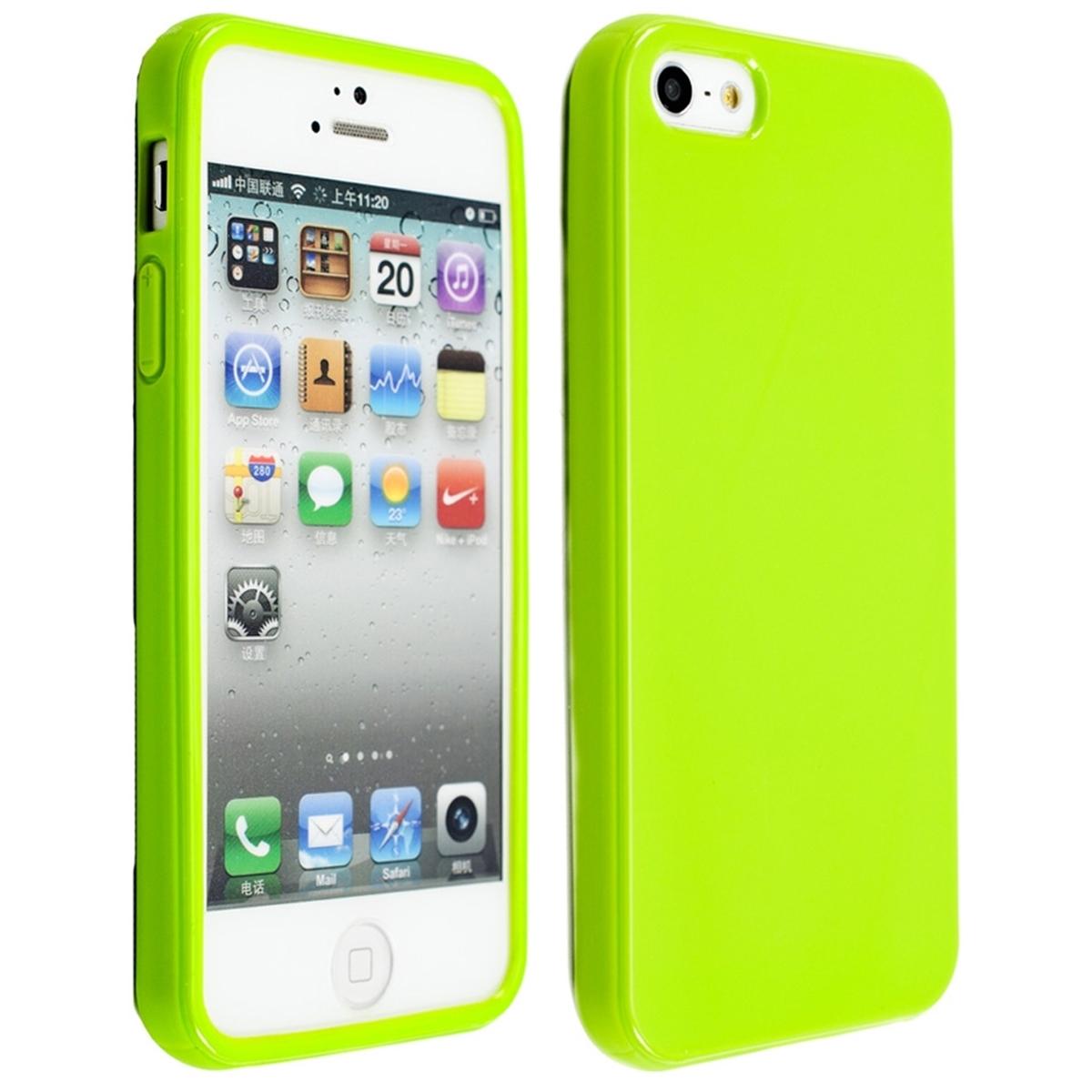 Funda de tpu silicona para apple iphone se 5 5s verde carcasa protectora ebay - Fundas de silicona para iphone 5 ...
