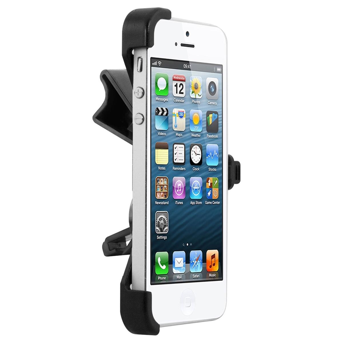 kwmobile mont de grille pour apple iphone se 5 5s chargeur support voiture ebay. Black Bedroom Furniture Sets. Home Design Ideas