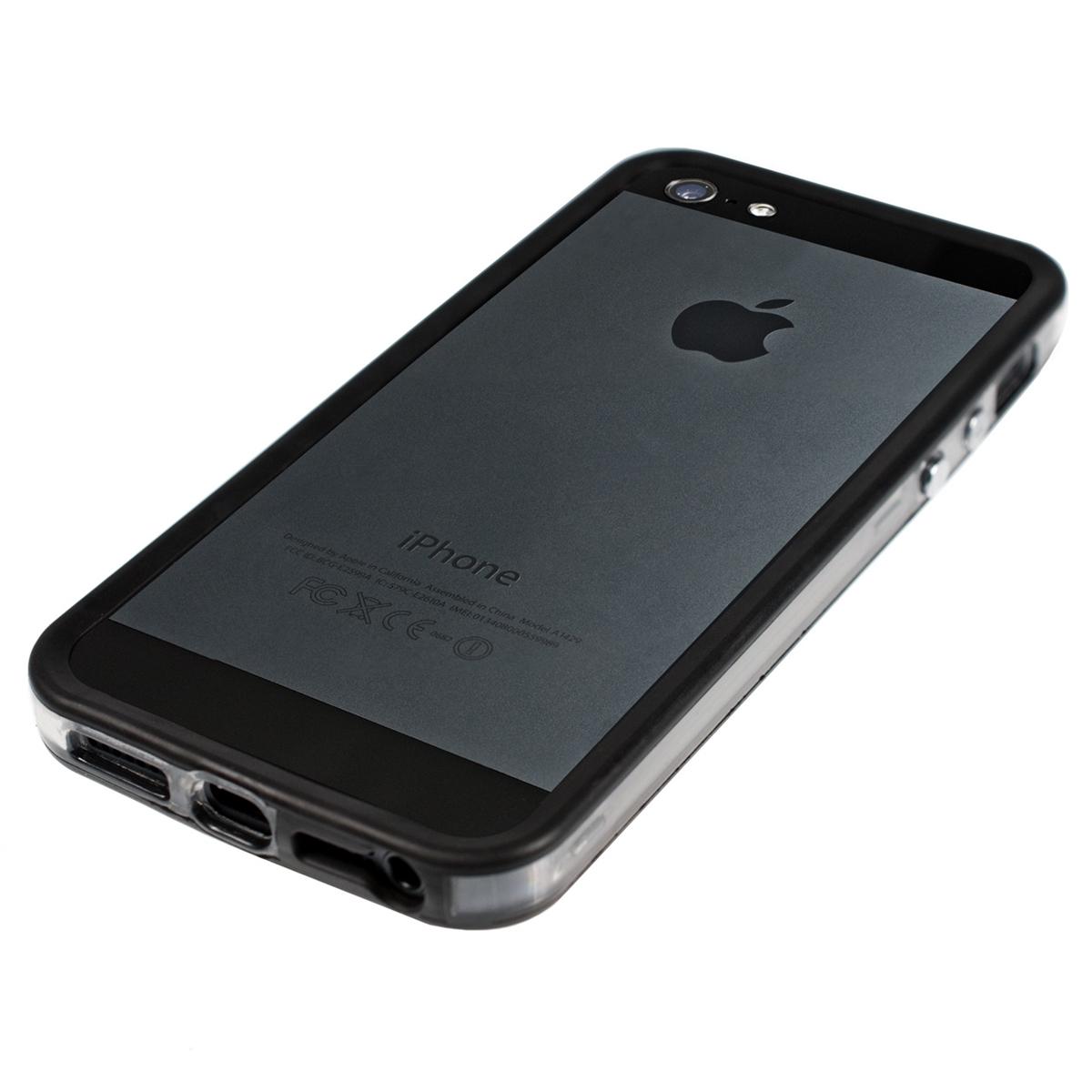 Funda de aluminio para apple iphone se 5 5s negro tpu silicona aluminio carcasa ebay - Fundas de silicona para iphone 5 ...