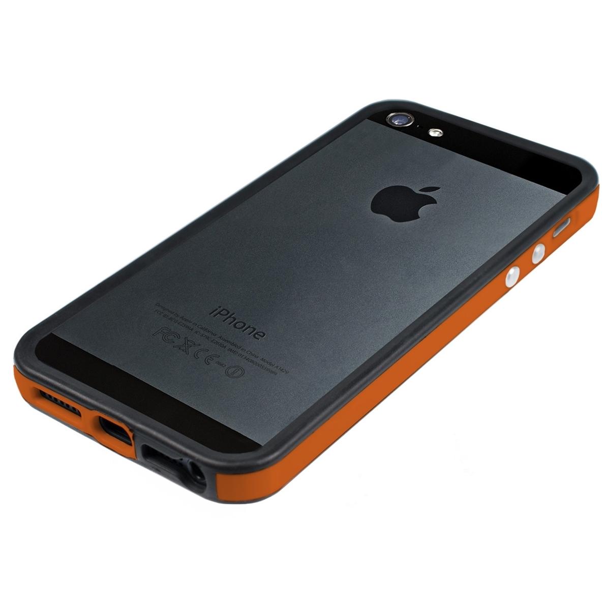Funda de aluminio para apple iphone se 5 5s naranja tpu silicona aluminio ebay - Fundas de silicona para iphone 5 ...