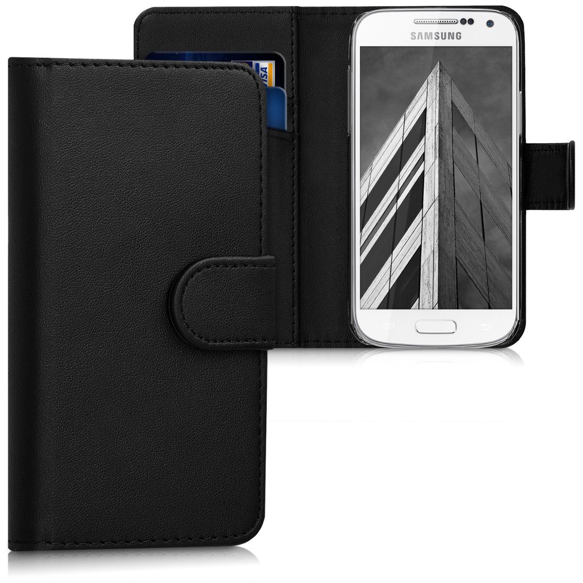 Kožené pouzdro pro Samsung S4 Mini - černé