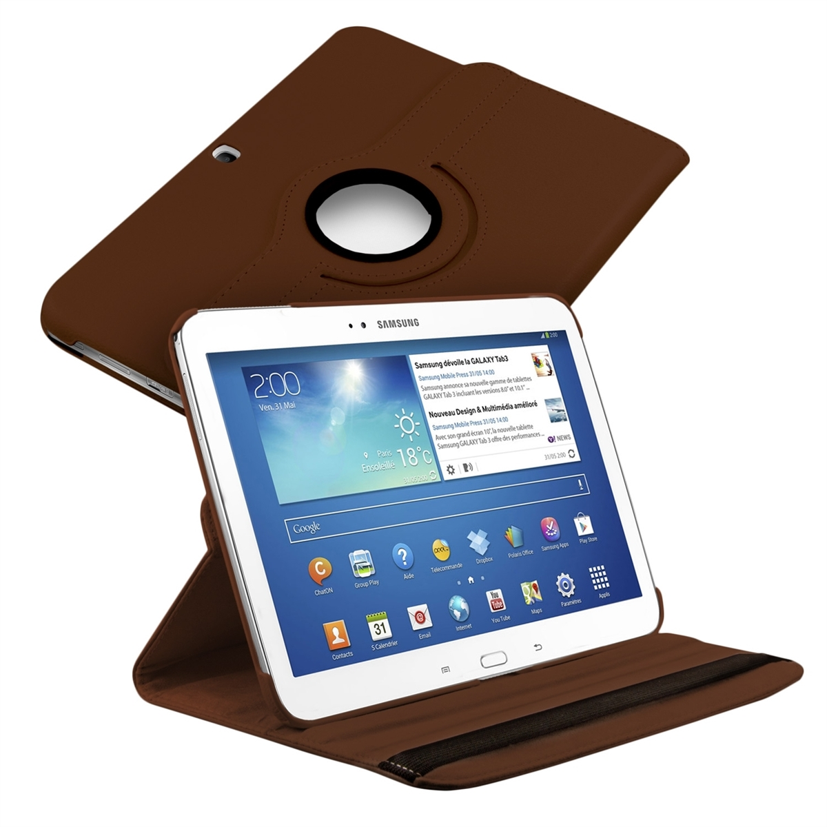 Kwmobile 360 synthetic leather case for samsung galaxy tab 3 10 1 rotation bag ebay - Funda galaxy tab 3 10 1 ...