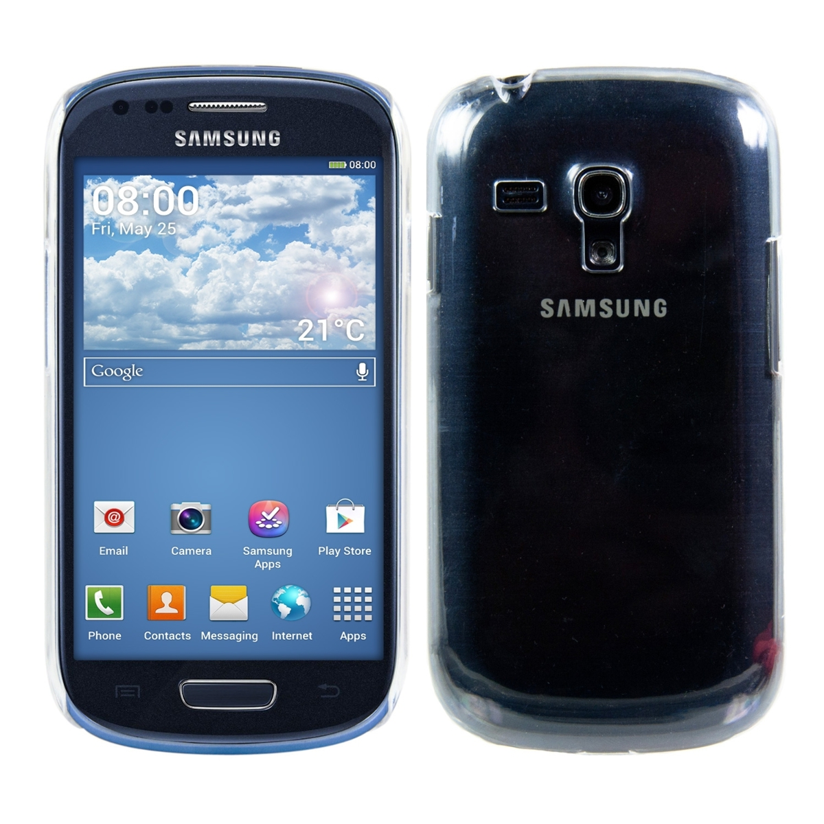 kwmobile crystal case f r samsung galaxy s3 mini. Black Bedroom Furniture Sets. Home Design Ideas