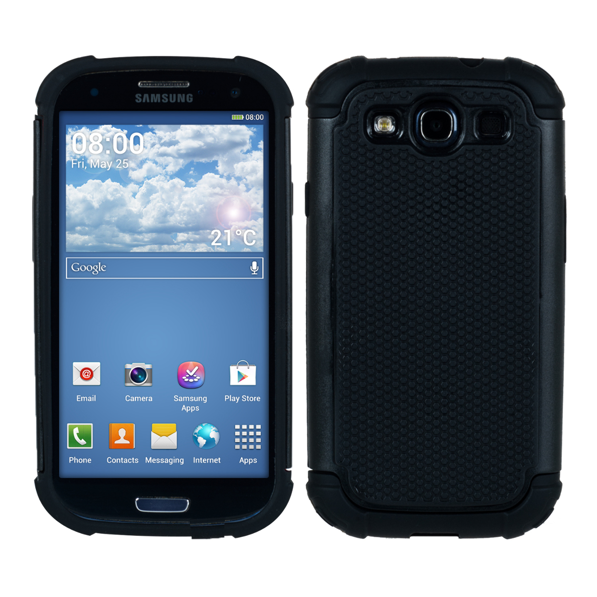 kwmobile hybrid case for samsung galaxy s3 i9300 s3 neo. Black Bedroom Furniture Sets. Home Design Ideas