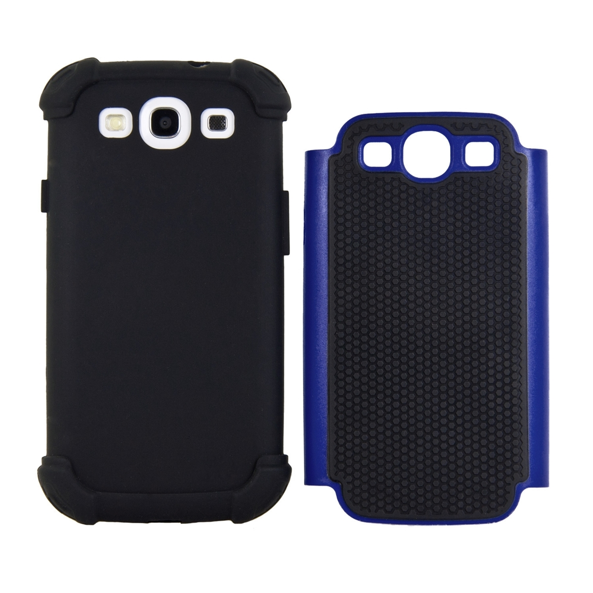Tpu samsung galaxy s3 s3 neo - Kwmobile Hybrid Case For Samsung Galaxy S3 S3 Neo In Blue Black Tpu Inner Case Hardcase Shield Perfect For Outdoor Usage Of Your Smartphone And