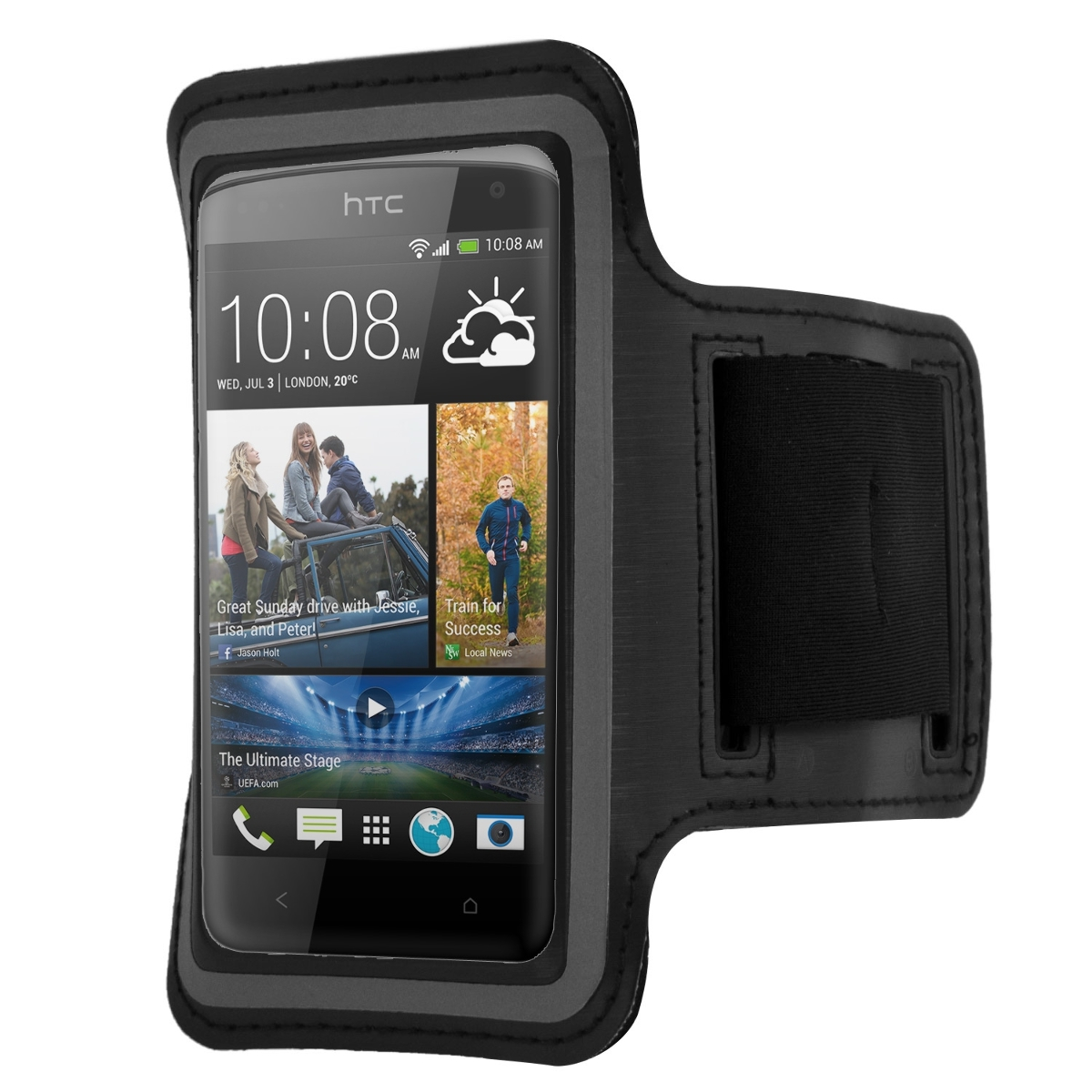kwmobile armband f r htc desire 500 schwarz sport tasche. Black Bedroom Furniture Sets. Home Design Ideas