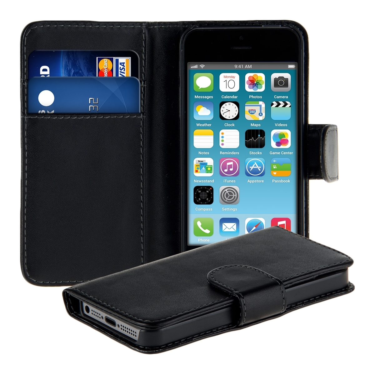 iphone 5c wallet cases wallet synthetic leather for apple iphone 5c purse 2302