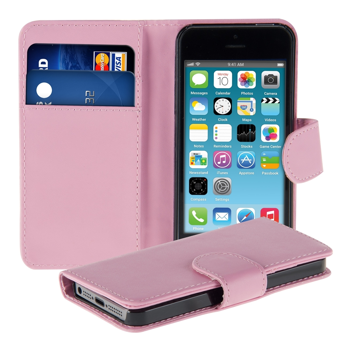 WALLET SYNTHETIC LEATHER CASE FOR APPLE IPHONE 5C PURSE ...