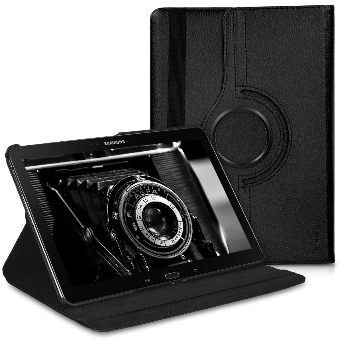 Kožené pouzdro pro Samsung Note 10.1 2014 Edition - černé