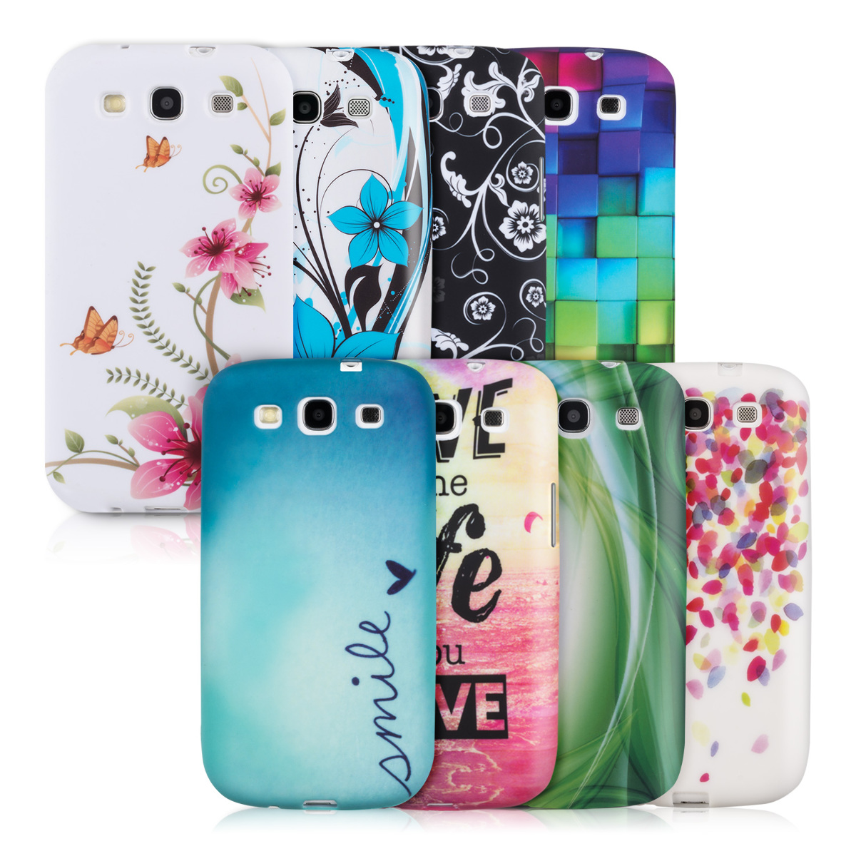 Tpu samsung galaxy s3 s3 neo - Kwmobile Tpu Silicone Case For Samsung Galaxy S3 S3 Neo Design Desired Colour Stylish Designer Case Made Of Premium Soft Tpu