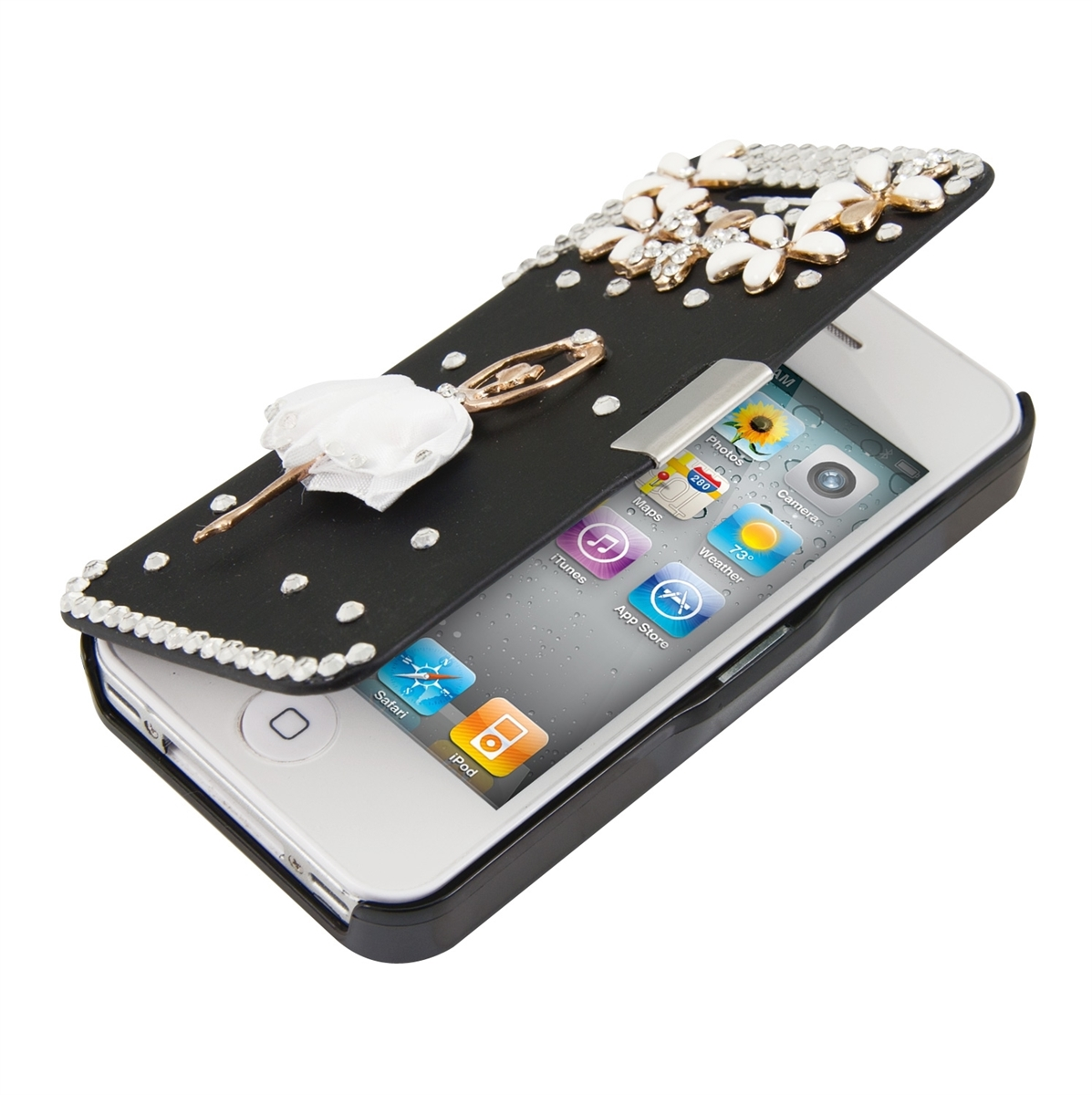 strass flip cover iphone 4 4s ballerina in neuwilen tg kaufen bei. Black Bedroom Furniture Sets. Home Design Ideas