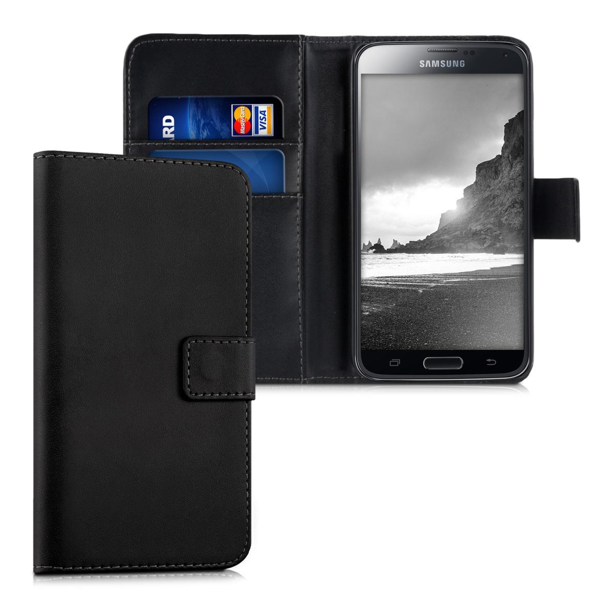 Kožené pouzdro pro Samsung S5 | S5 Neo - černé