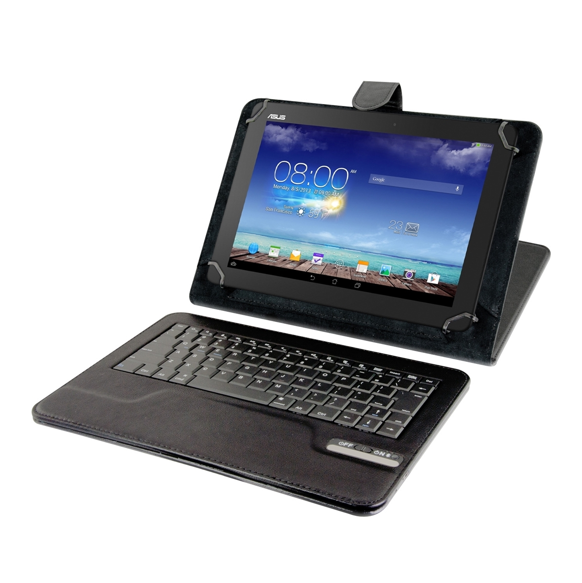 Housse universelle clavier bluetooth qwerty pour asus memo for Housse asus memo pad 10