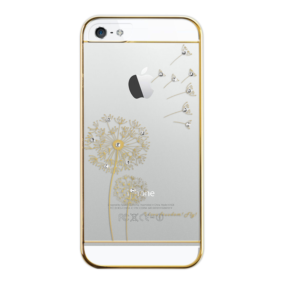 kwmobile schutz h lle f r apple iphone se 5 5s i love freedom gold crystal case ebay. Black Bedroom Furniture Sets. Home Design Ideas