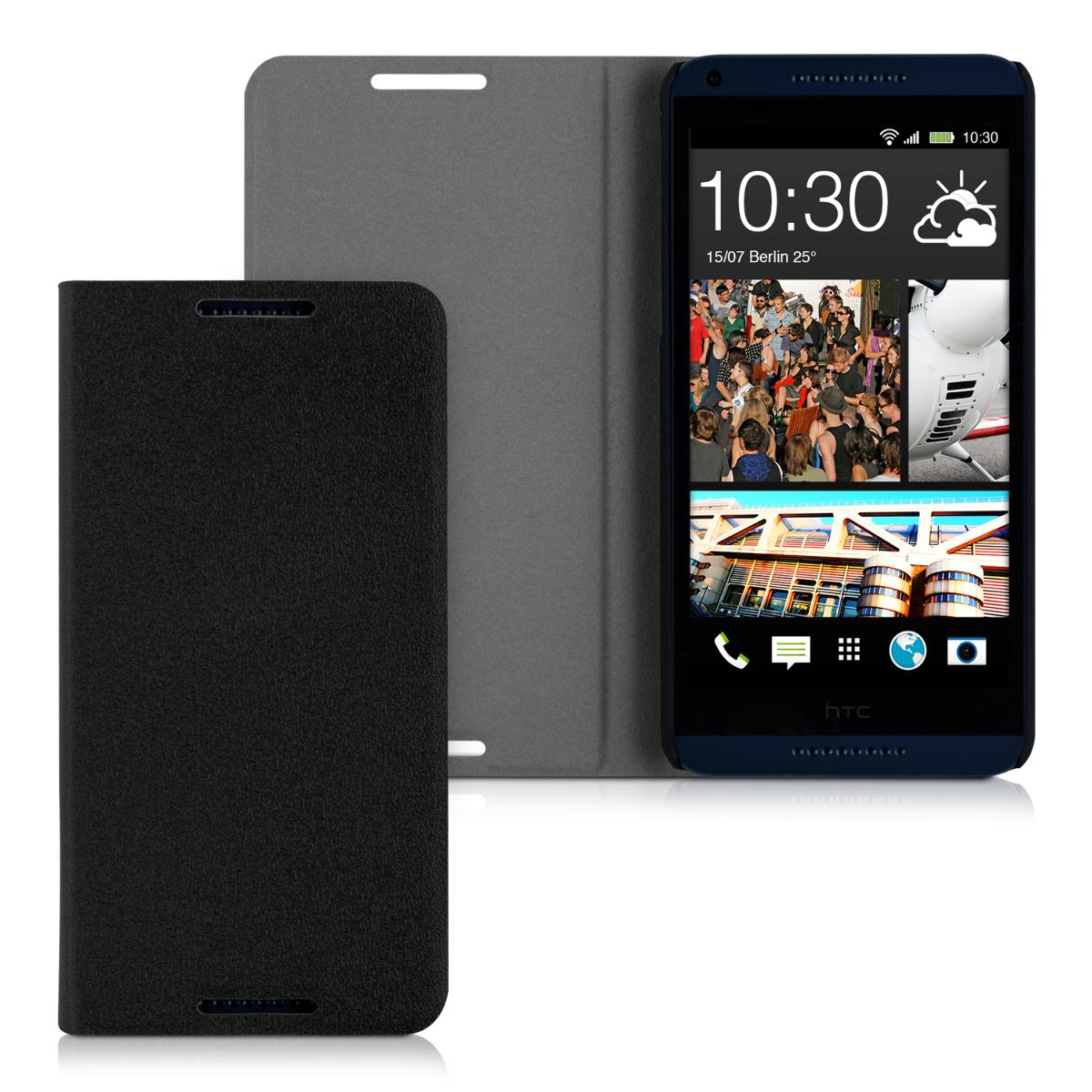 kwmobile flip cover for htc desire 816 case slim back shell hard mobile phone ebay. Black Bedroom Furniture Sets. Home Design Ideas