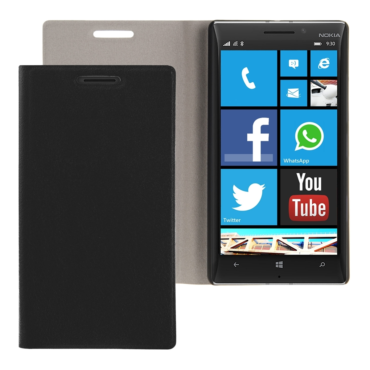 kwmobile-FLIP-COVER-FUR-NOKIA-LUMIA-930-SCHUTZ-HULLE-HANDY-CASE-SLIM-ETUI-BOOK