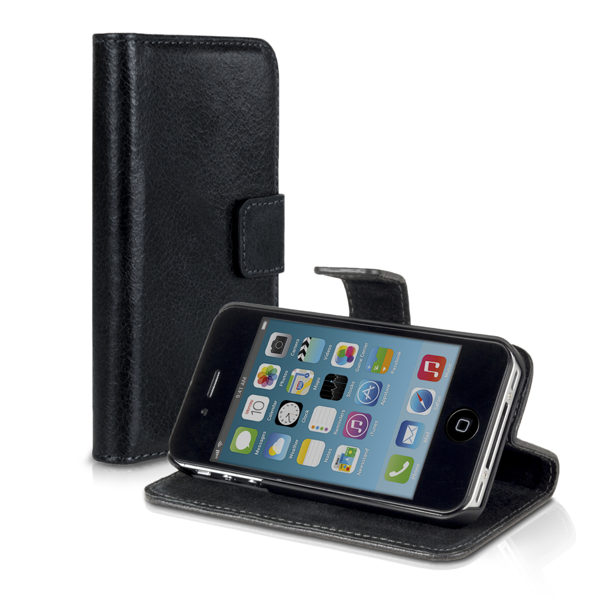 iphone 4 wallet case leather for apple iphone 4 4s wallet book pocket 14411