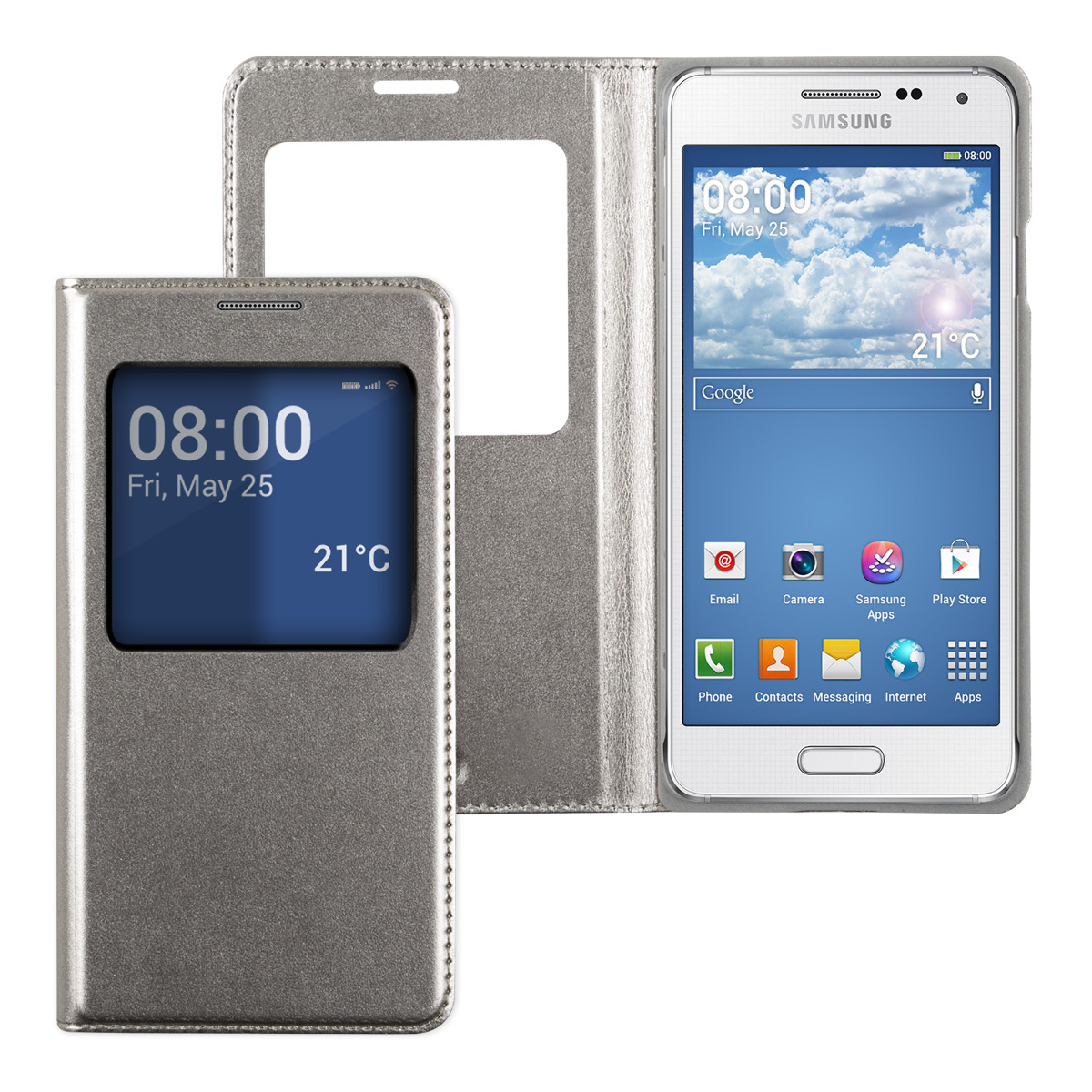 kwmobile-WINDOW-SYNTHETIC-LEATHER-FLIP-COVER-FOR-SAMSUNG-GALAXY-ALPHA-CASE-SLIM