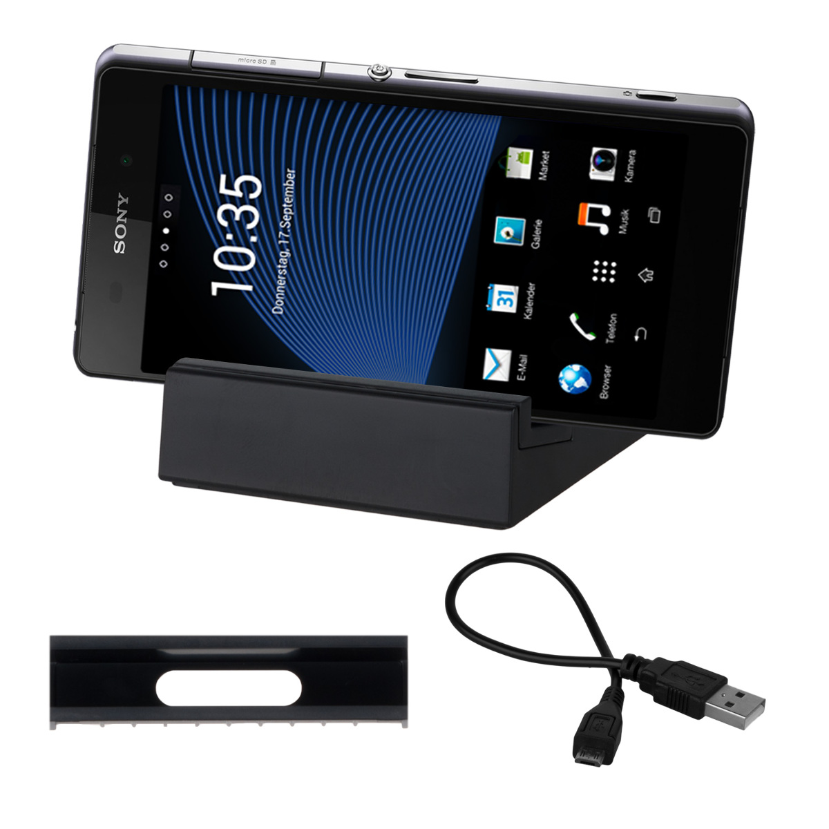 kwmobile-MAGNET-DOCKING-STATION-FUR-SONY-XPERIA-Z2-SCHWARZ-UNIVERSAL-DOCK-KABEL