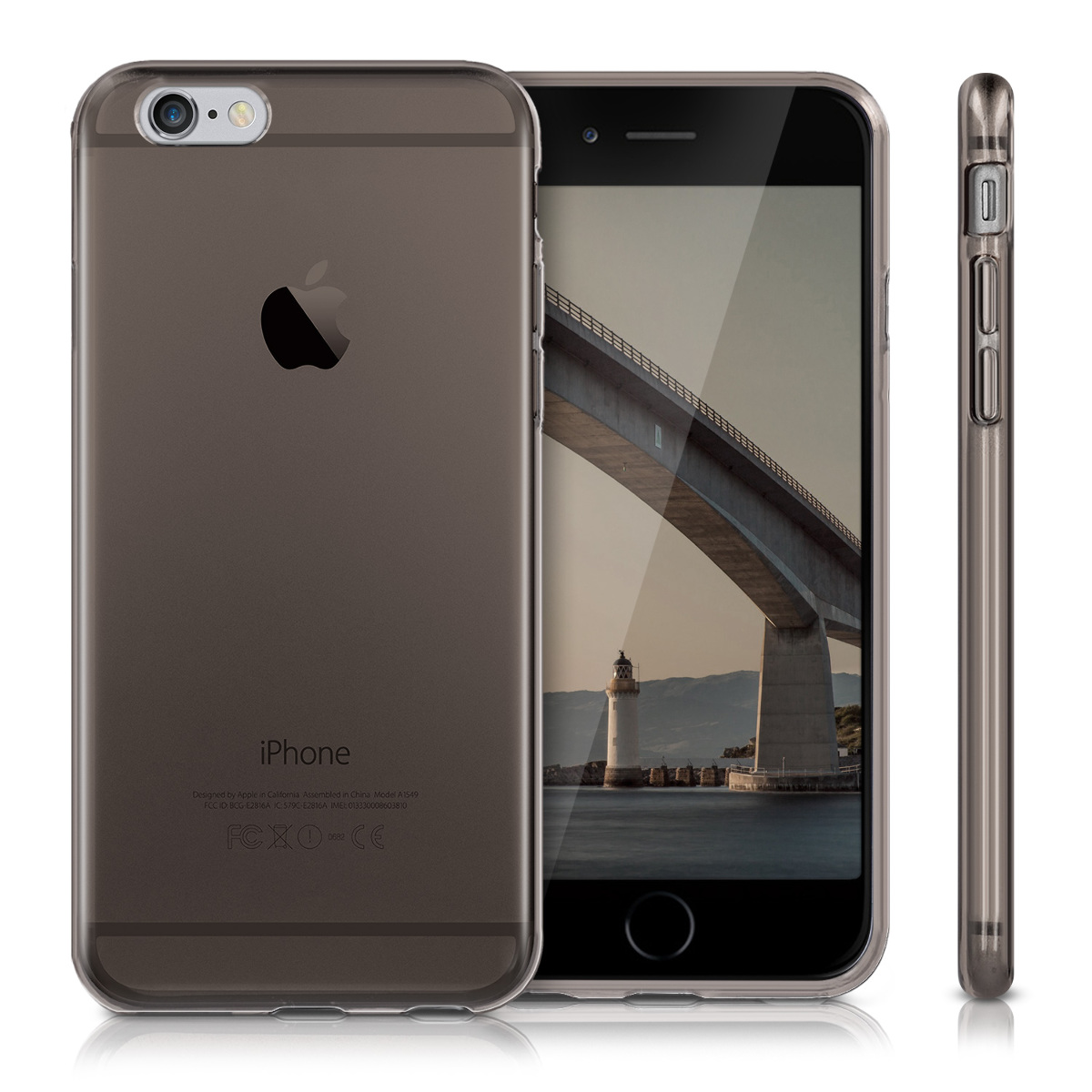 kwmobile tpu silikon crystal case f r apple iphone 6 6s h lle klar handy bumper ebay. Black Bedroom Furniture Sets. Home Design Ideas