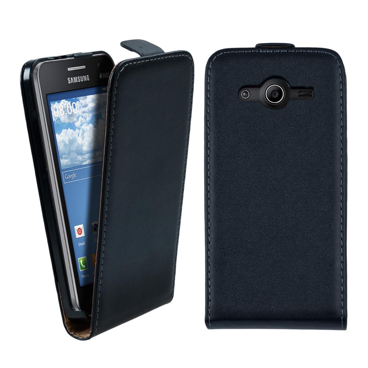 Kožené pouzdro pro Samsung Core II Duos - černé