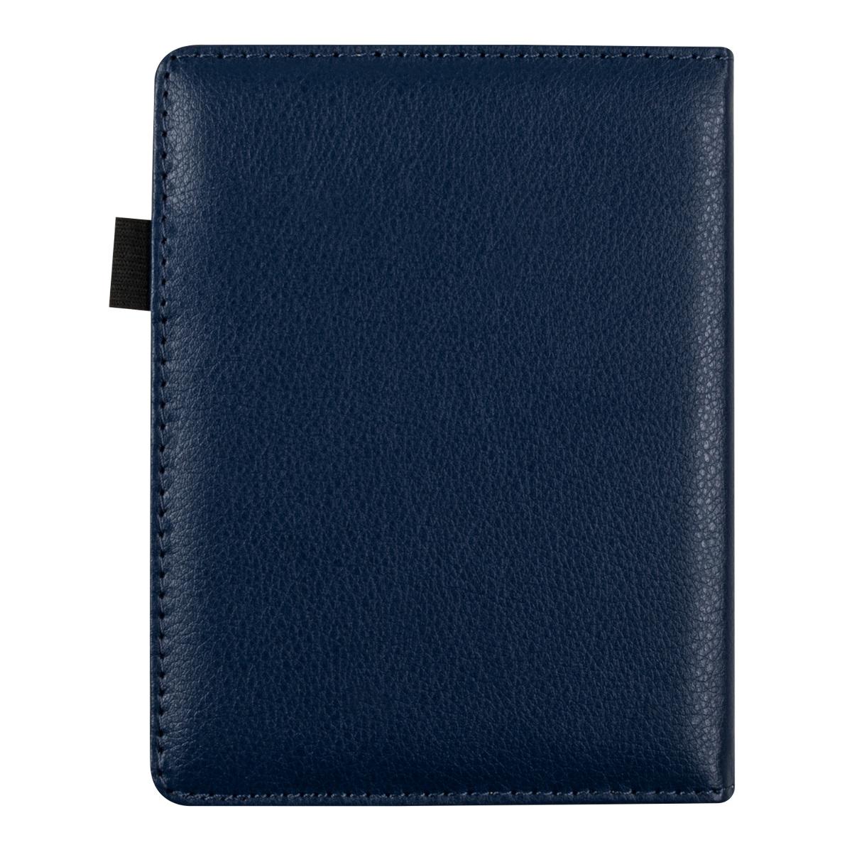 L gant tui en cuir synth tique pour kobo aura bleu fonc for Housse kobo aura