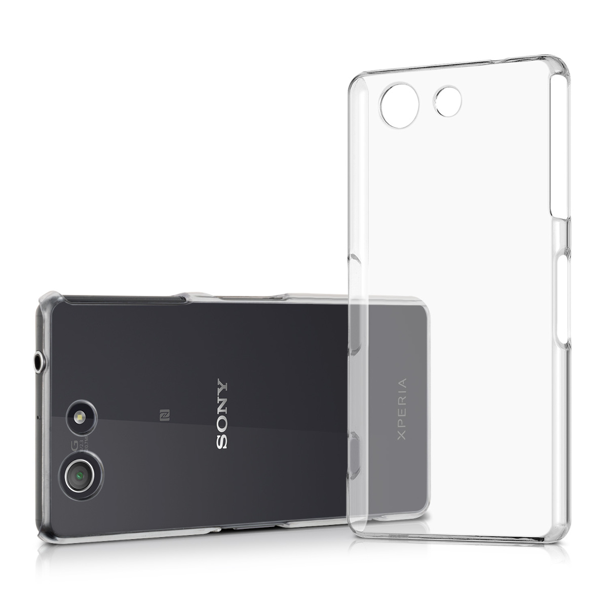 kwmobile HARD CASE CRYSTAL FÜR SONY XPERIA Z3 COMPACT TRANSPARENT HANDY HÜLLE