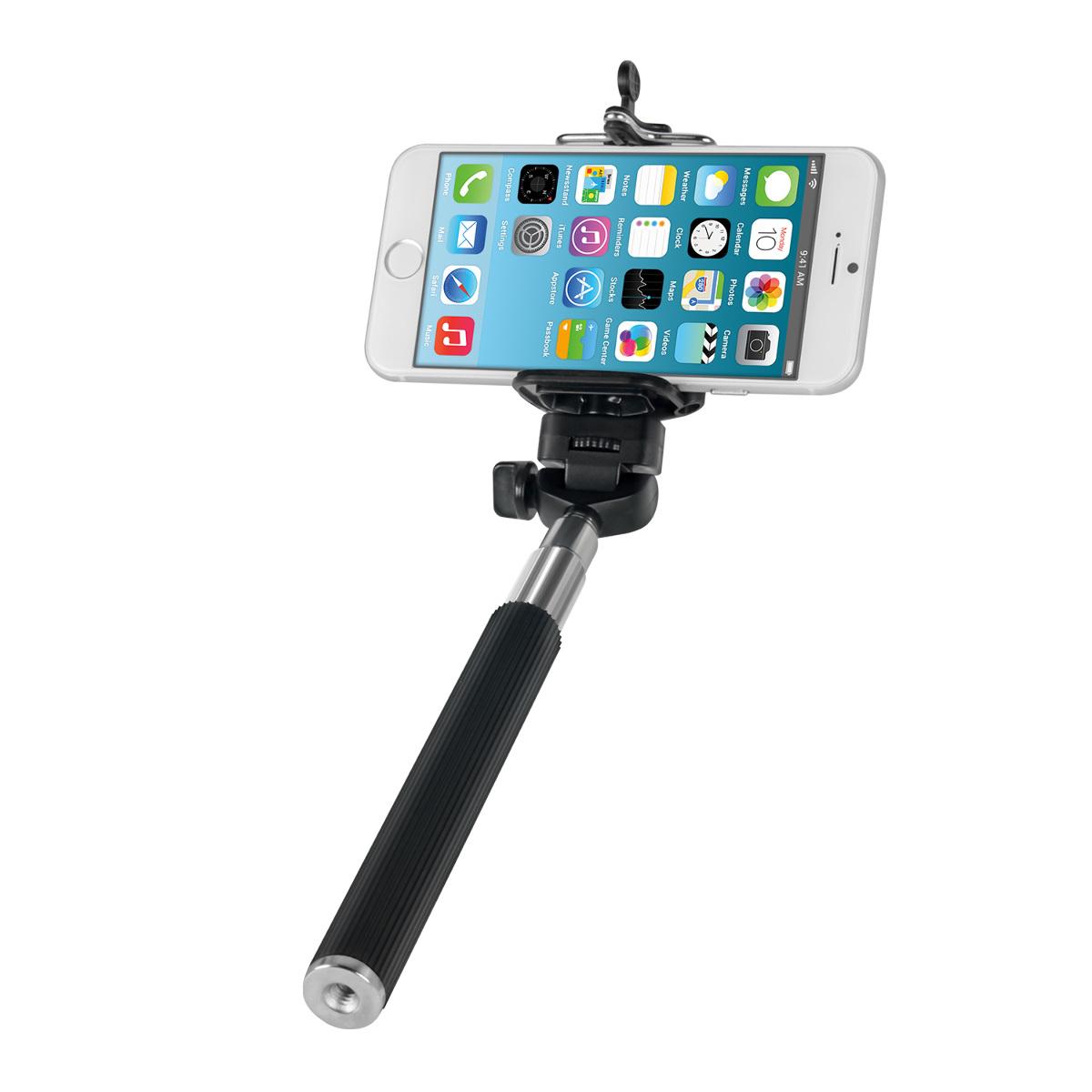 kwmobile handheld monopod tripod selfie stick smartphone holder for smartphone ebay. Black Bedroom Furniture Sets. Home Design Ideas