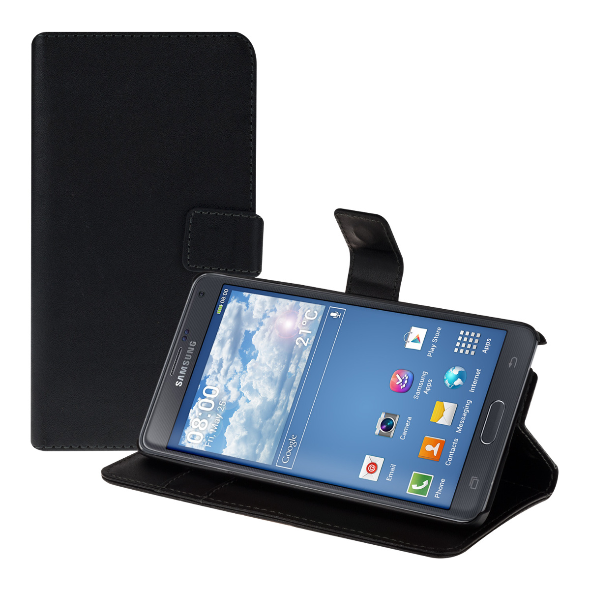 Kožené pouzdro pro Samsung Note 4 - černé