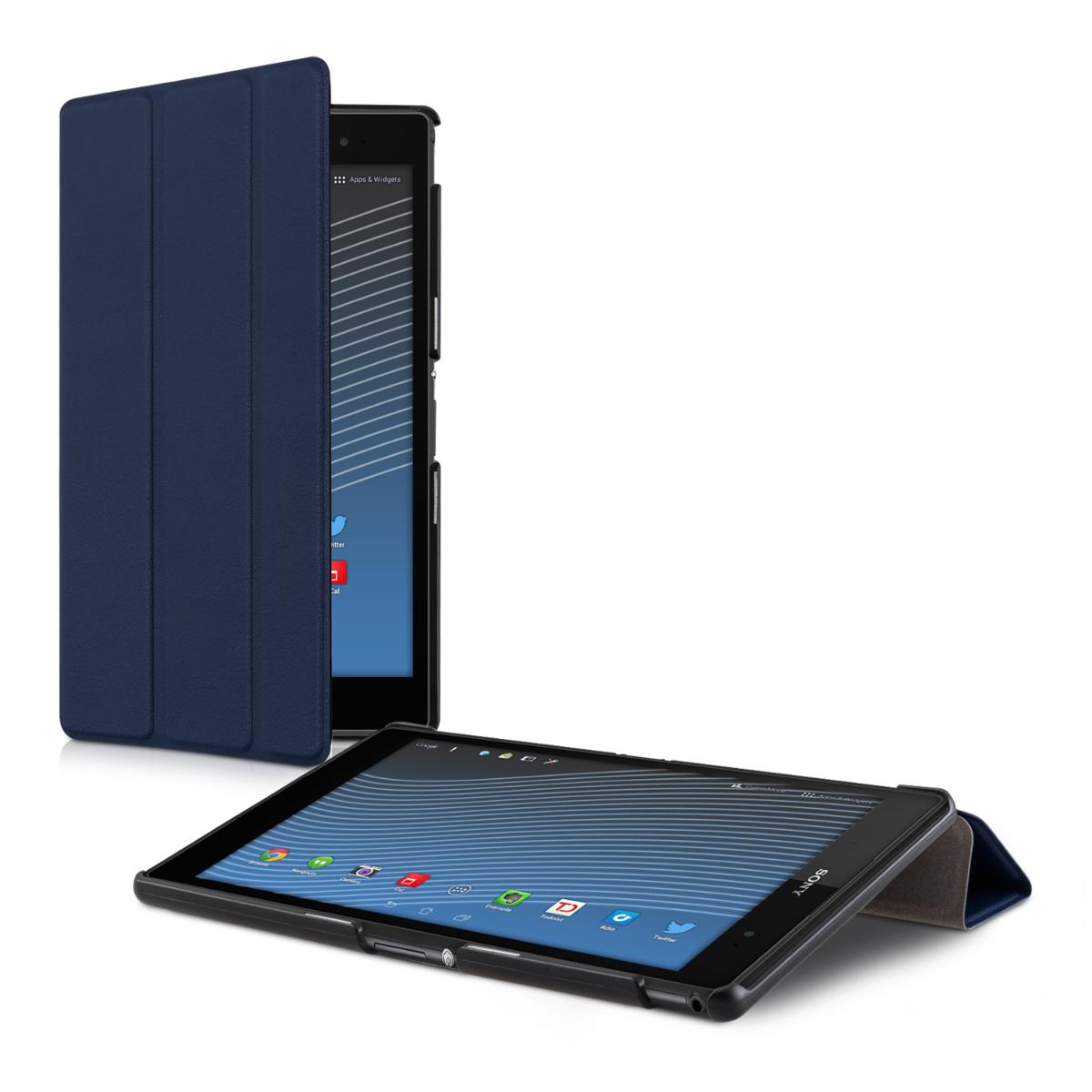 Kožené pouzdro | obal pro Sony Xperia Tablet Z3 Compact - tmavě modré