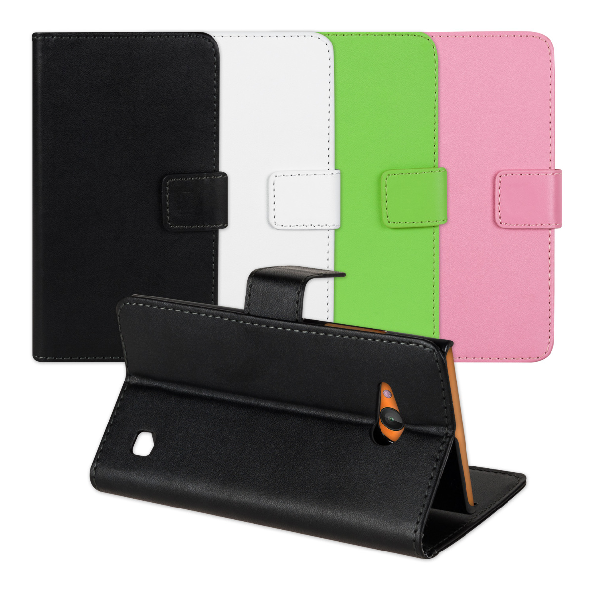 save off a457e 87f61 Details about PU Leather Wallet Case Flip Cover for Nokia Lumia 730 735