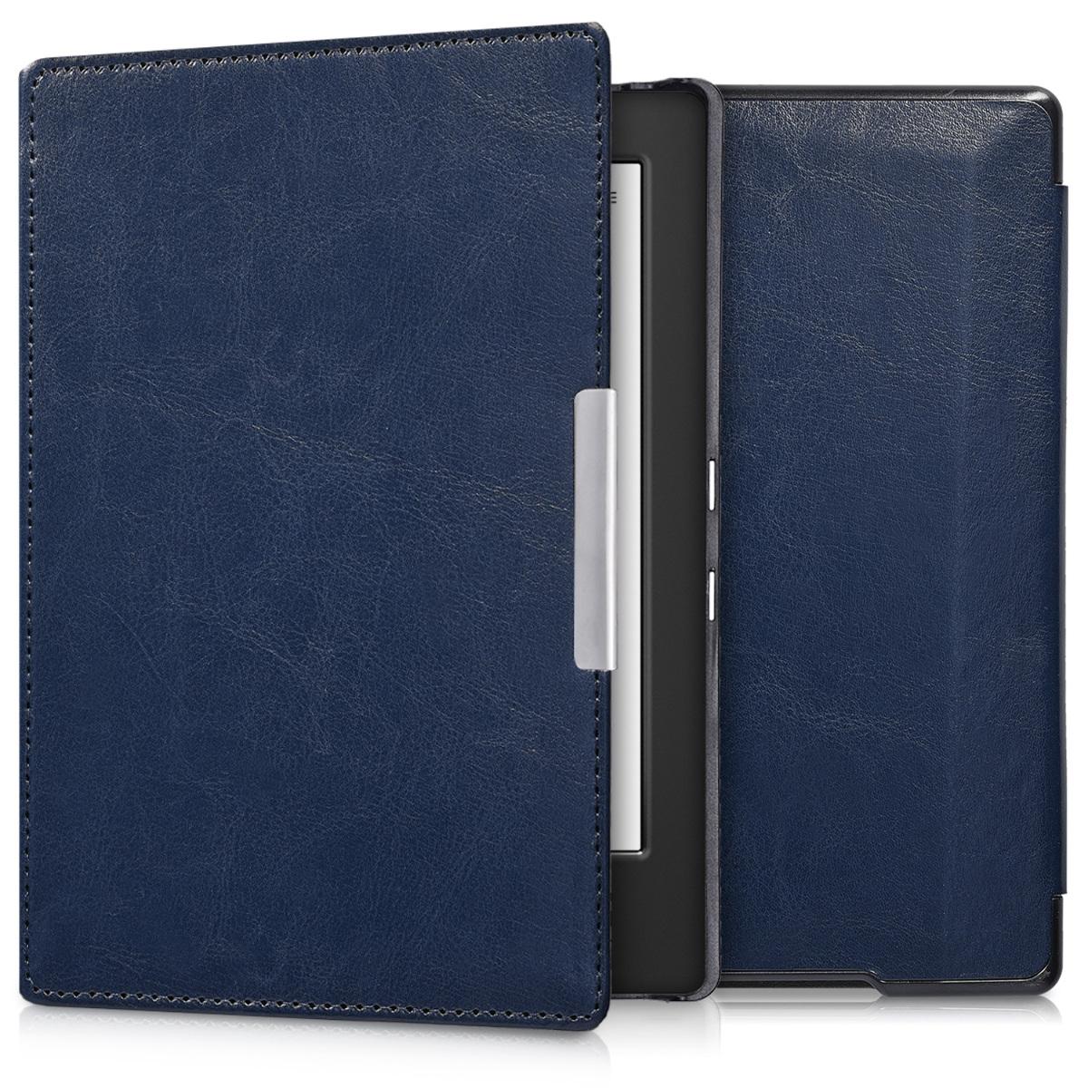 Flip cover for kobo aura h2o edition 1 dark blue for Housse kobo aura h2o edition 2