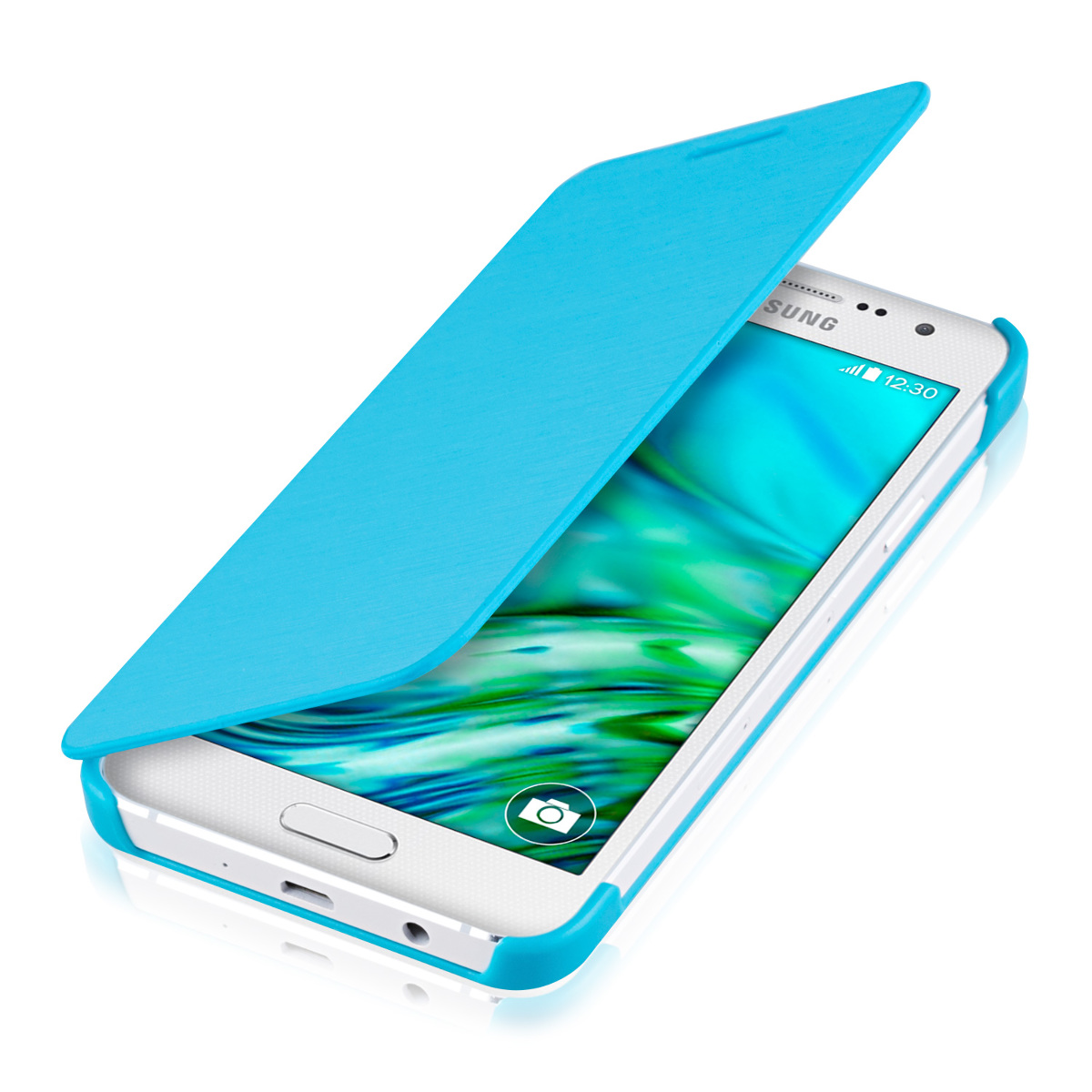 Kwmobile flip cover for samsung galaxy a3 2015 case slim for Housse samsung galaxy a3