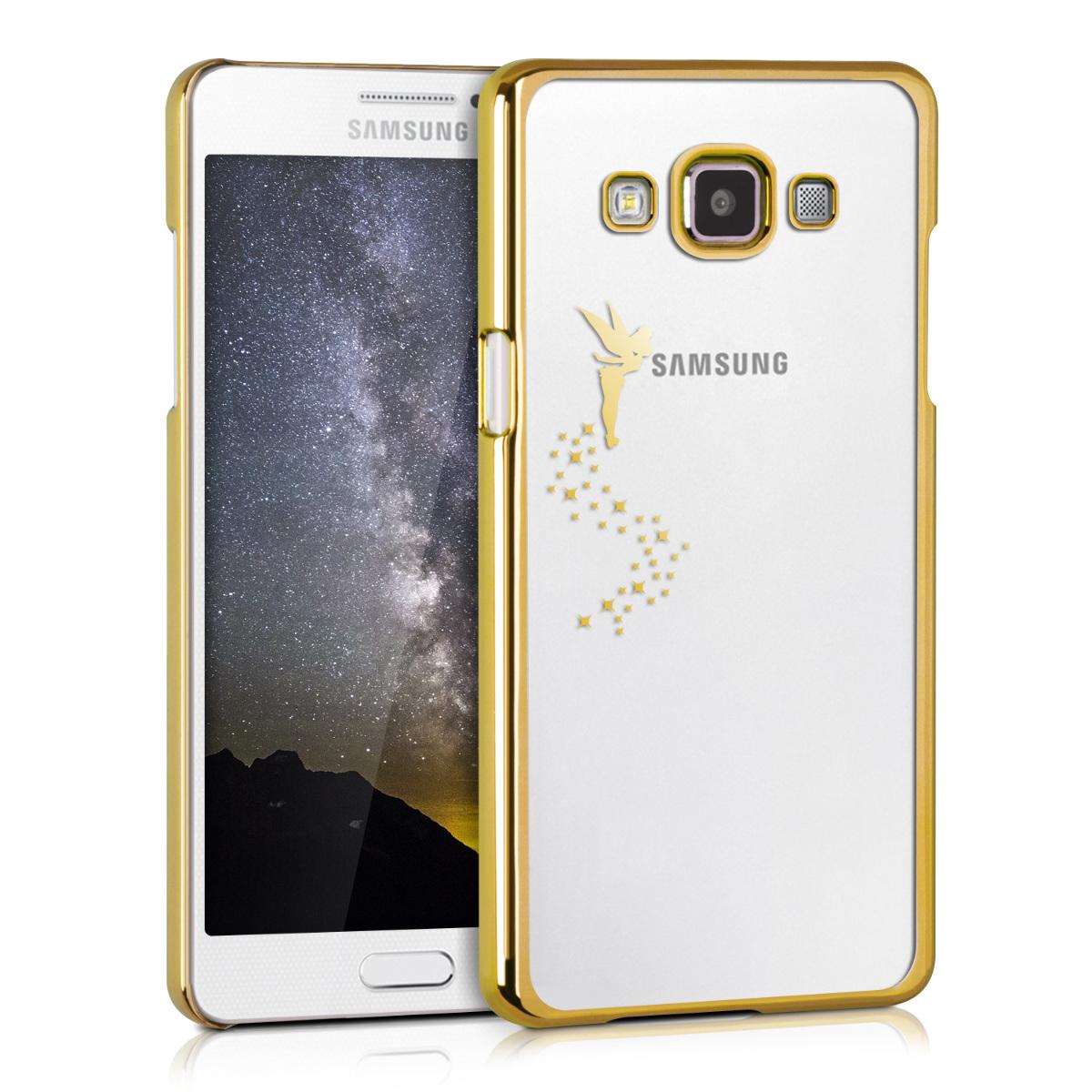 Kvalitní silikonové TPU pouzdro pro Samsung A5 (2015) - Víla Gold / transparentní