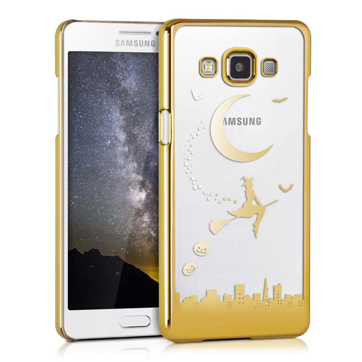 Kvalitní silikonové TPU pouzdro pro Samsung A5 (2015) - Witch Gold / transparentní