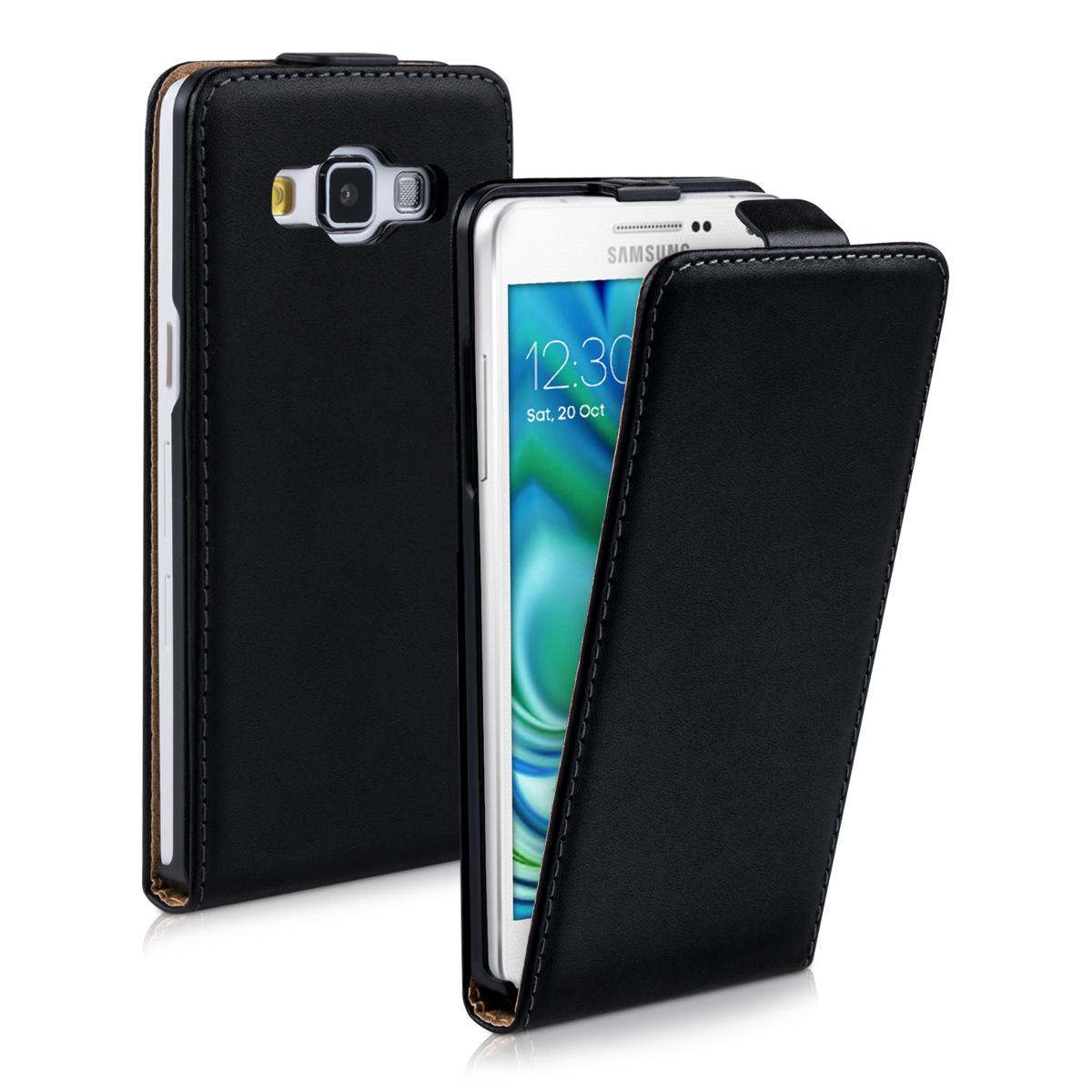 Kožené pouzdro pro Samsung A5 (2015) - černé