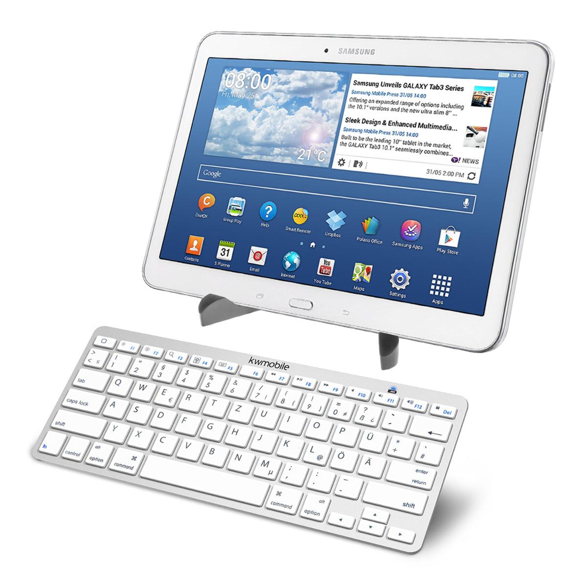 kwmobile bluetooth keyboard f r samsung galaxy tab 4 10 1. Black Bedroom Furniture Sets. Home Design Ideas