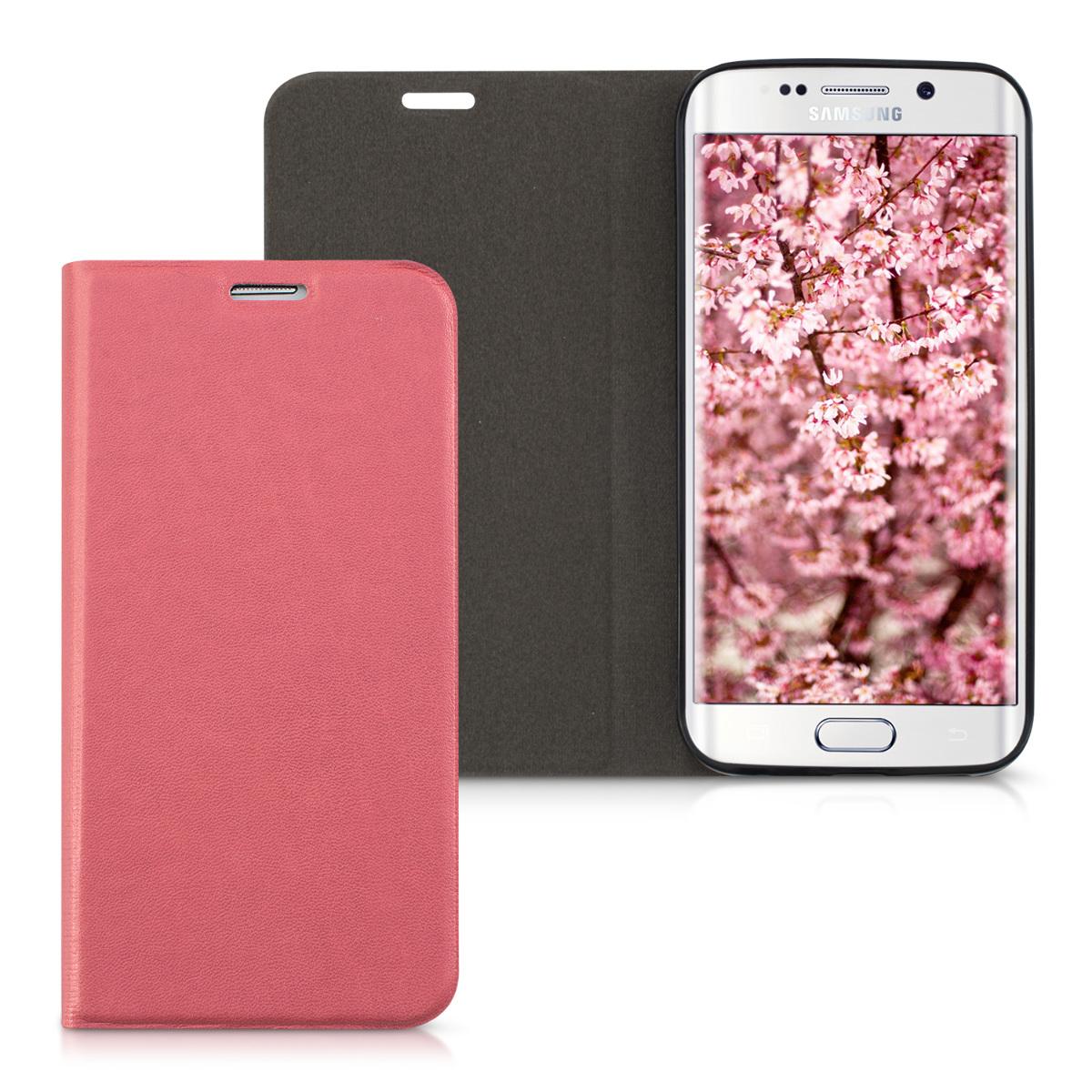 Kvalitní plastové pouzdro pro Samsung S6 Edge - Dusty růžové