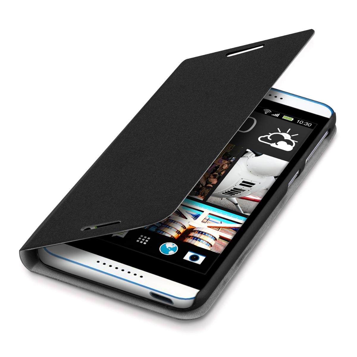 flip cover for htc desire 820 black case slim back shell. Black Bedroom Furniture Sets. Home Design Ideas