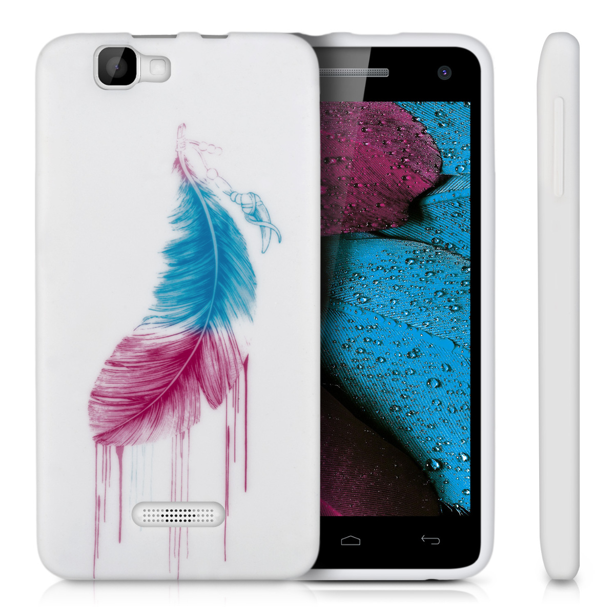 kwmobile tpu silikon case f r wiko rainbow wunschfarbe silikon h lle cover soft. Black Bedroom Furniture Sets. Home Design Ideas