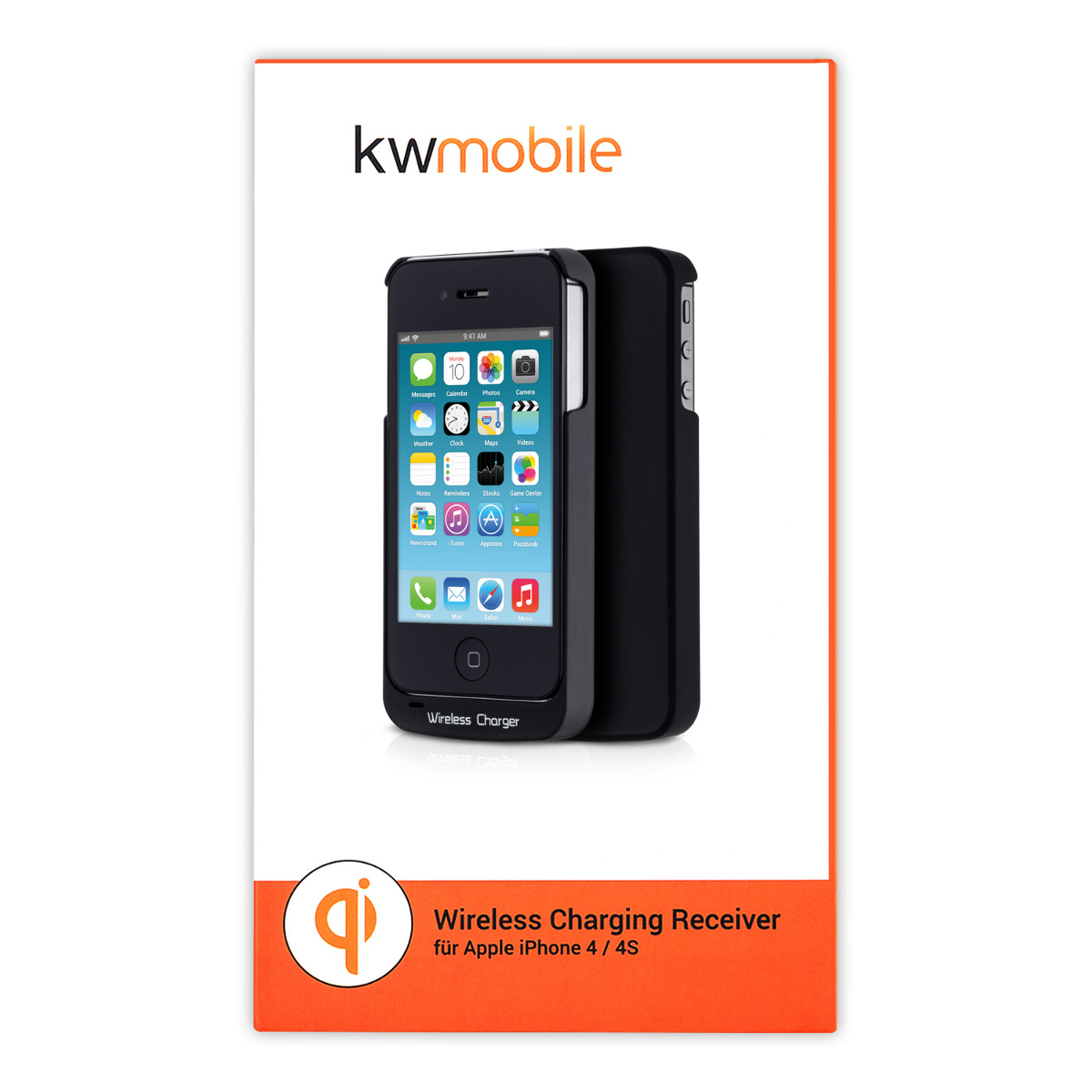 qi wireless charging receiver for apple iphone 4s wireless charger ebay. Black Bedroom Furniture Sets. Home Design Ideas