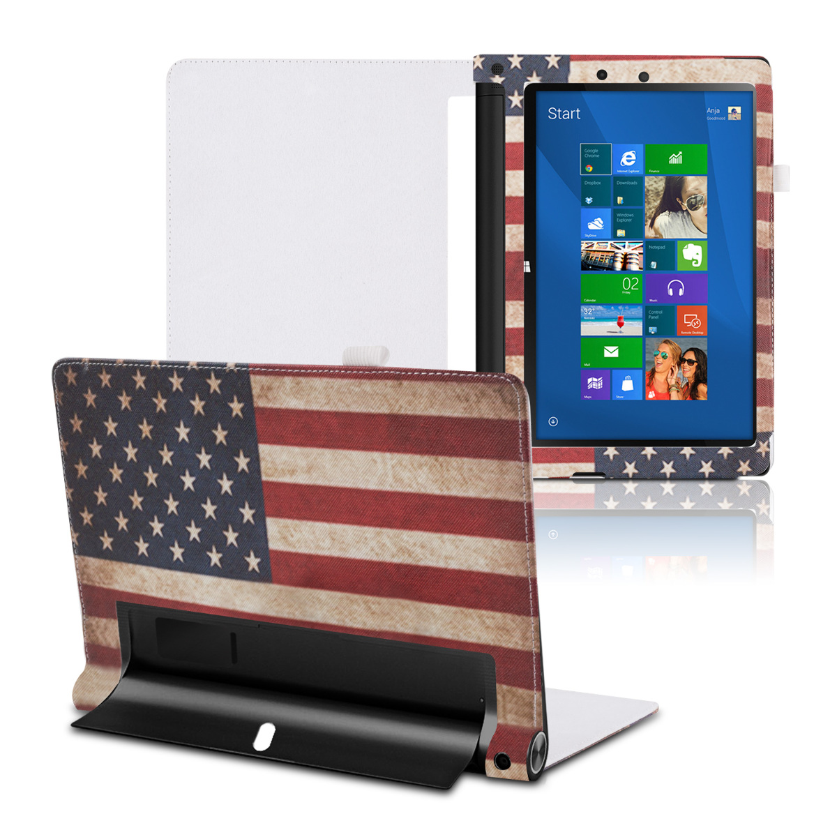 Kwmobile housse en cuir chic pour lenovo yoga tablet 2 10 for Housse lenovo yoga 500