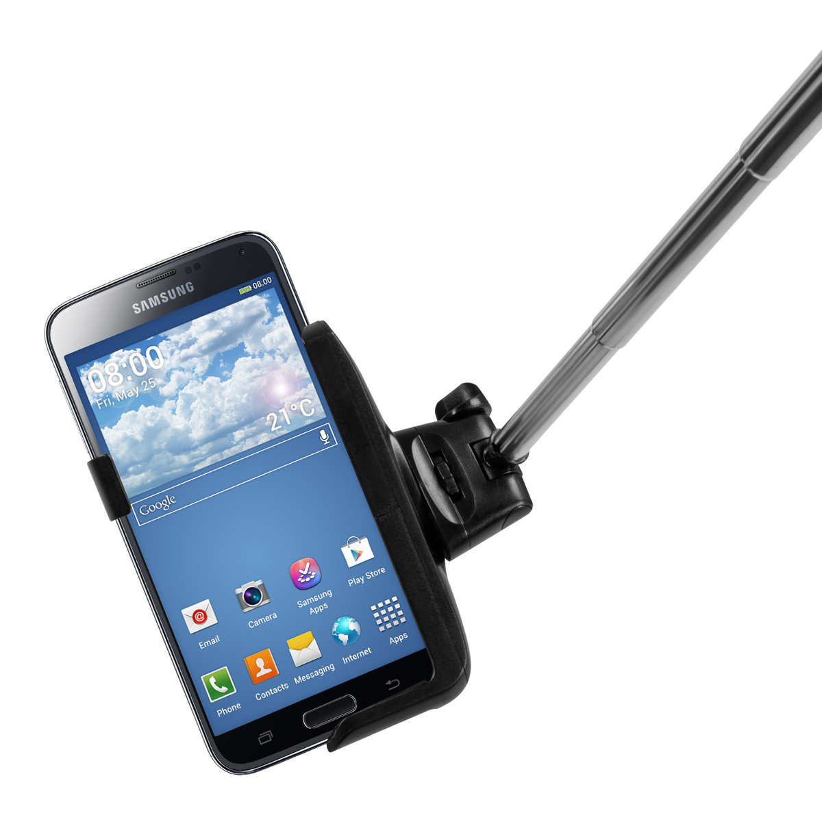 kwmobile monopiede selfie stick montaggio remoto samsung galaxy s5 asta per. Black Bedroom Furniture Sets. Home Design Ideas