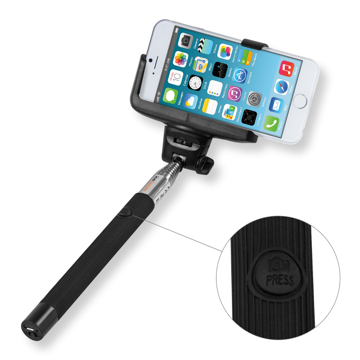 kwmobile monopiede selfie stick montaggio remoto apple iphone 6 6s 7 iphone 6 ebay. Black Bedroom Furniture Sets. Home Design Ideas