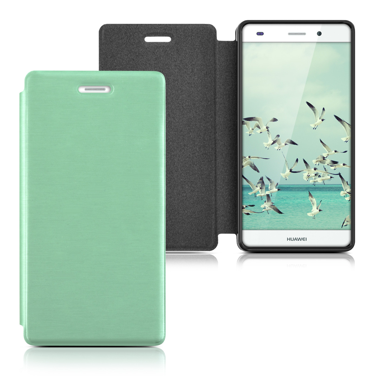 kwmobile flip cover for huawei p8 lite case slim back shell hard mobile phone ebay. Black Bedroom Furniture Sets. Home Design Ideas