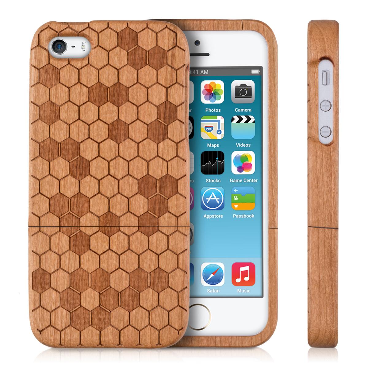 h lle f r apple iphone se 5 5s holz handy case cover. Black Bedroom Furniture Sets. Home Design Ideas